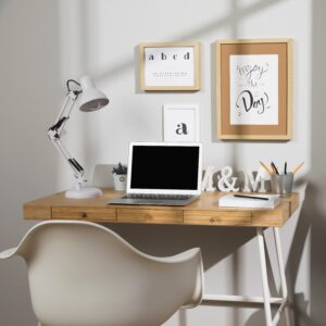 nice-and-organised-workspace-with-lamp